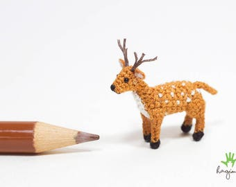 Miniature fallow deer crochet, Tiny deer, micro fallow deer crochet, amigurumi tiny animals
