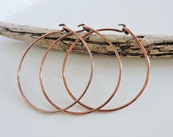 copper bangles, set of three copper bangles, copper bracelets, set of three bangles
