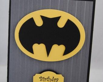 Batman birthday card etsy handcrafted batman birthday cardinvitation bookmarktalkfo Choice Image