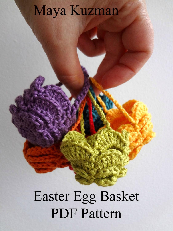 CROCHET PATTERN Easter Egg Crocheted Basket - egg cozy, easter ...