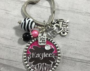 Sweet Sixteen Key Chain / Teen Birthday / First Car / 16th Birthday / Daughter / Granddaughter / Niece / Godchild / Initialed Key Chain //