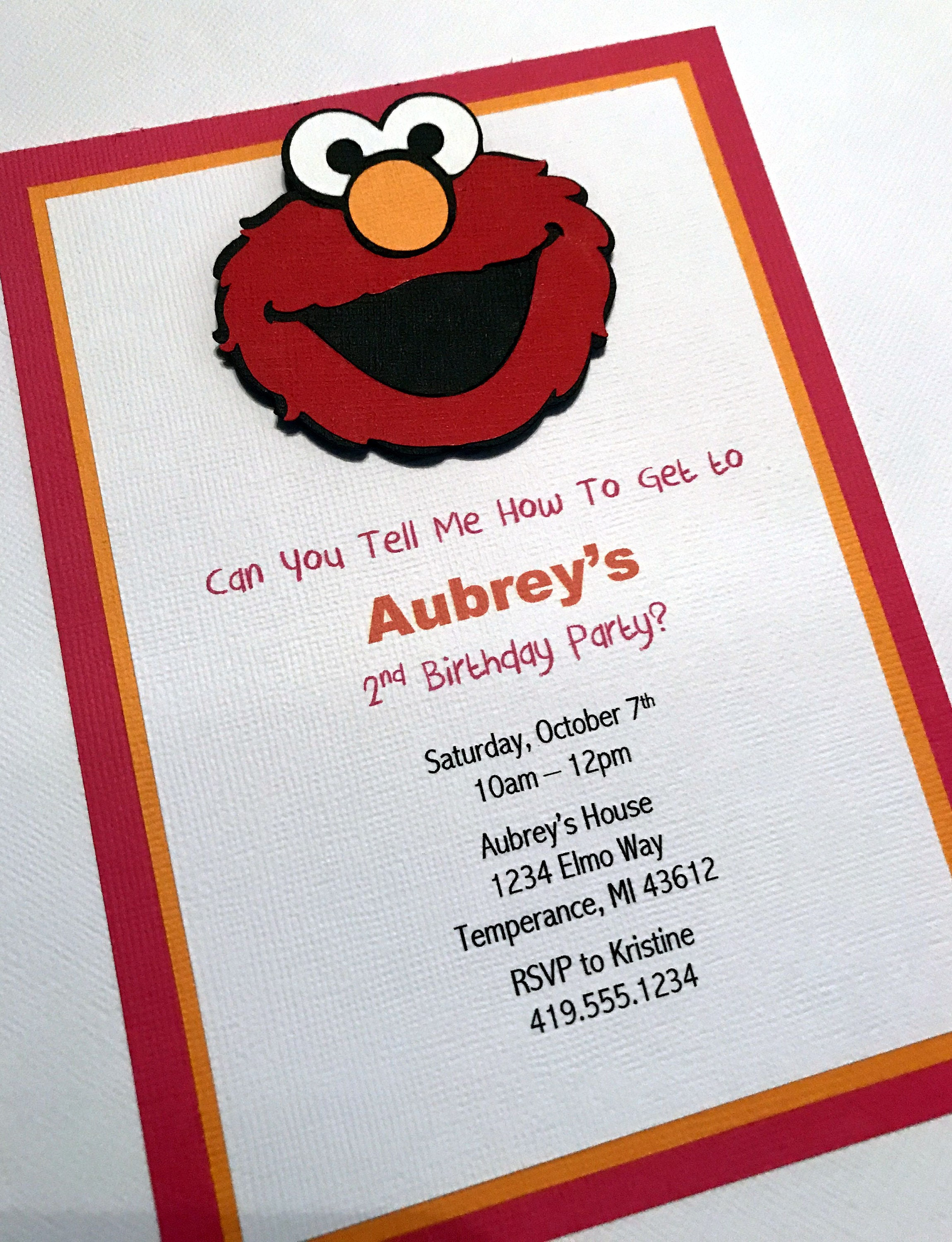 Elmo Party Invitations Girl Elmo Invitation Elmo Birthday