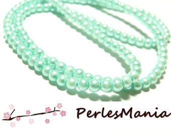 1 strand of approximately 240 beads glass Pearl round 4mm blue sky 2G 5815, DIY