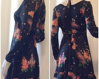 Rae Dolly 70s Floral Babydoll Mini Dress