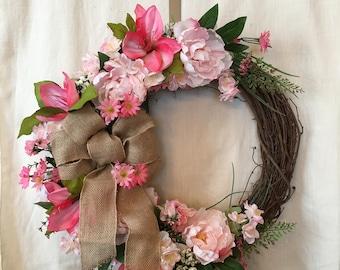 Spring Wreaths -Front Door Wreaths - Summer Wreaths - Spring Door Wreaths - Summer Door Wreaths - Spring Door Decor - Front Door Wreaths