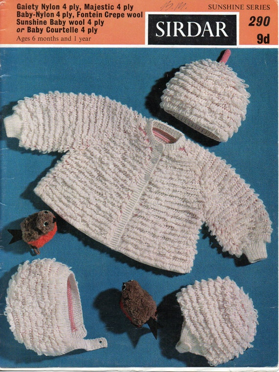 Vintage Baby Loopy Coat Hat Knitting Pattern Pdf Loop Stitch Jacket