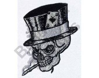 Tattoo - Machine Embroidery Design, Tatoo Skull Tophat