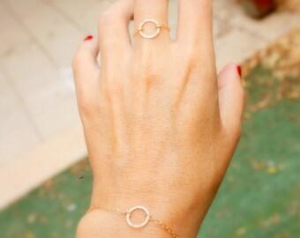 Open Circle Ring, Karma Ring, 14k gold fill circle ring, Gold Open Circle Ring, Minimalist Circle Ring
