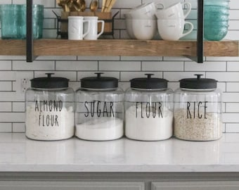 Pantry Labels // Kitchen Labels // Canister Labels // Jar Labels // Custom Decals // Vinyl Decals // Wonderfully Made Creations