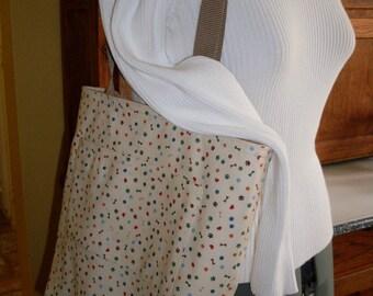 Love My Dog Reversible Fabric Tote Bag Medium/Large Book Bag Market Tote