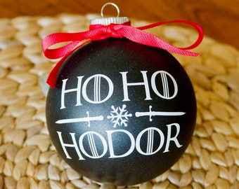 "Game of Thrones Ornament - 4"" Ho Ho Hodor"