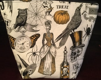 Gothic Raven Knitting Project Bag