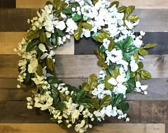 Hand made wreaths and farmhouse signs for all by carlbergcreations spring wreath wisteria white flower wreath flower wreath white flowers farmhouse mightylinksfo Gallery