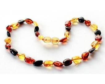 Amber Teething Necklaces-Free Delivery
