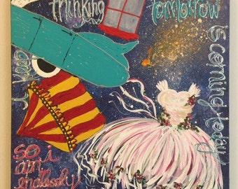 st. robinson and his cadillac dream, original art.