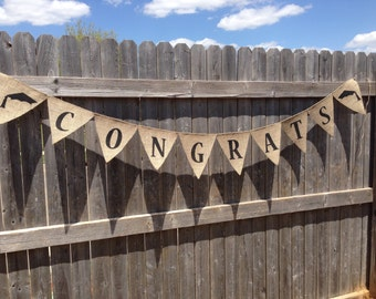GRADUATION PARTY DECORATIONS 2018, Graduation Party Banner, Congrats Burlap Banner, Congrats Grad Banner, Class of 2018, Graduate Banner