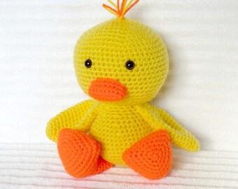 Amigurumi Duck Tutorial : Plush duck pattern duck plush sewing pattern stuffed duck