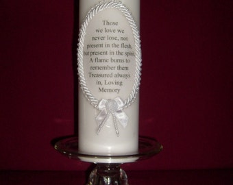 Pillar Memory Candle (white)     (Those we love)
