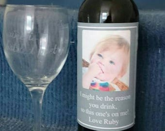 Personalised Wine Labels great for Teacher gifts, Christmas or any occasion also available for prosecco