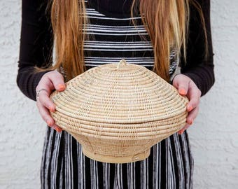 Beehive Basket with Lid
