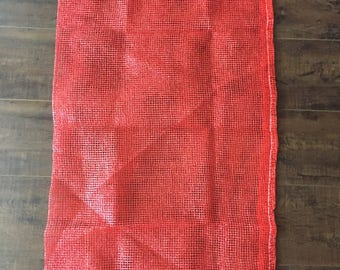 Produce Or Multi Purpose Mesh Bag 32 by 19 Inch 100 Count, Big Durable Storage Bag With Drawstring For Fruits, Vegetables, Firewood Or Items