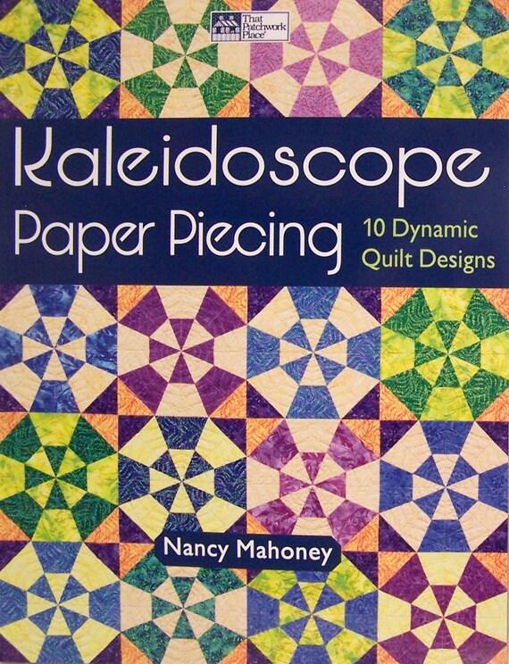 Patrones de tejido - caleidoscopio papel Piecing10 edredón diseños ...