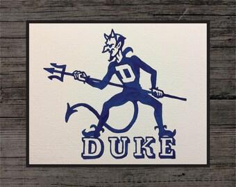 Duke Blue Devils Painting