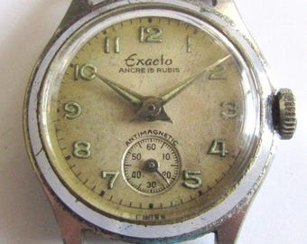 Rare Old Vintage Swiss ladie's wrist watch - EXACTO ANCRE 15 RUBIS