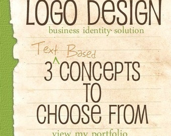 Custom Text Based Logo Design - Business Identity Solution - 3 Concepts To Choose From