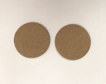 "24 - 2"" Chipboard Circles, Die cut circles, Game board pieces, Bare chipboard, DIY Craft project,"