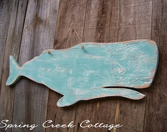 Whale, Sea Side Decor, Handcrafted, Wood Signs, Home Decor, Coastal Living, Bathroom Decor, Whale Silhouette