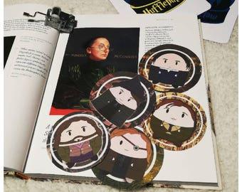 Harry Potter - Hogwarts staff stickers