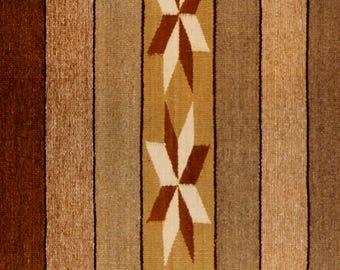 Native American Navajo Wide Ruins textile, by Annie Tsosie, Ca 1970's, #1108B