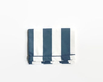 Grande rayure marine taie d'oreiller - Kid - Polka blanc marine Stripe taie d'oreiller - literie BCBG de literie