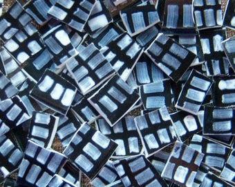 Mosaic Tiles--Windows -Black Gray and white-42 Tiles