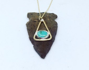 Triangle and Turquoise necklace