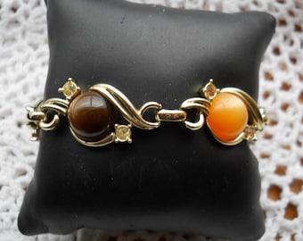 Vintage Cabochon Stone Bracelet #806