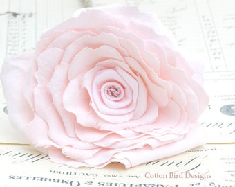 2nd Anniversary Pink Cotton Flower Gift for Her Wife Girlfriend Fiancee Flowers by Cotton Bird Designs