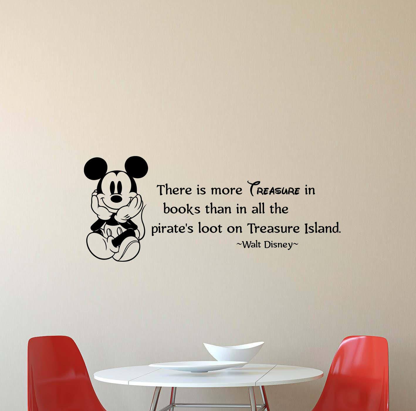 Walt Disney Zitat Wandtattoo gibt es mehr Schatz Mickey Mouse