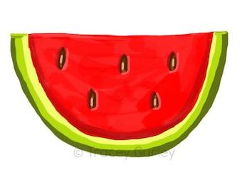 Watermelon - Original art download 2 files, watermelon printable, watermelon clip art