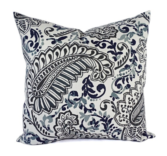two pillow covers blue grey and brown throw pillows floral. Black Bedroom Furniture Sets. Home Design Ideas