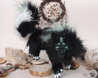 FOR SALE! Guardian-maxi,dog Wolfram.OOAK Art Doll.Handmade Poseable Toy.Dog Toy.Totem.Guardian.