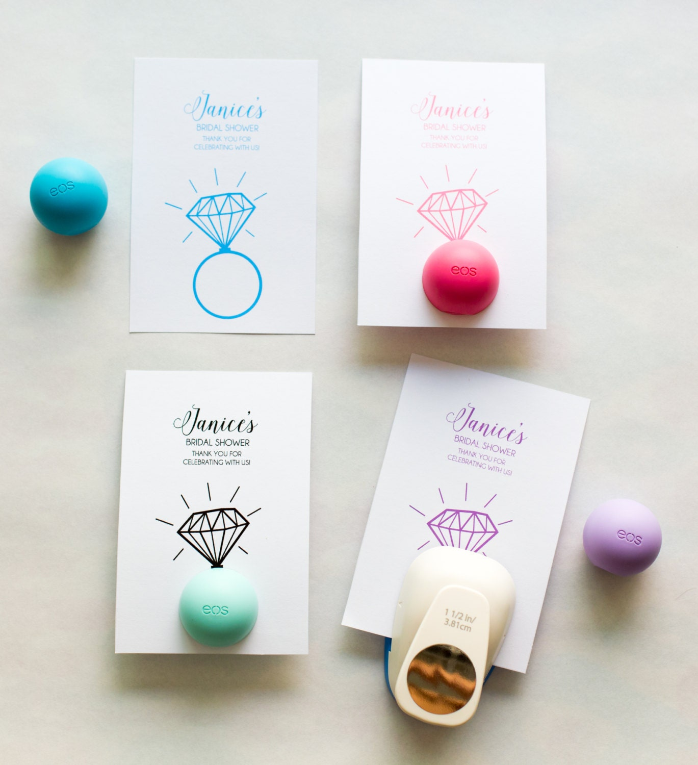 DIGITAL FILE EOS Lip Balm Holder for Bridal Shower Favors