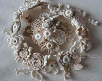 Wedding headpiece Brooch Boho flower crown Head wreath Flower crown Floral head wreath Flower headpiece Wedding flower crown Hair wreath