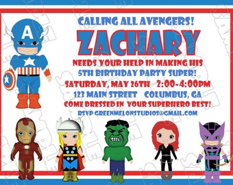 Free Printable Captain America Birthday Card
