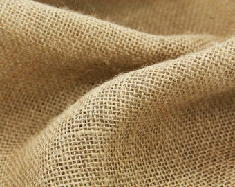 120'' Inch Wide Burlap Jute Fabric By The Yard Natural Perfect For Events Home