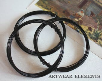 Black Aluminum Wire, 18 gauge soft, 3, 6, 9 Yards, Lightweight, Black Wire, Jewelry Wire, Wire, Hobby Craft Wire, Art Wire ArtWear Elements®