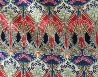 IANTHE in REDS, & NAVY  by Liberty on Tana Lawn Cotton