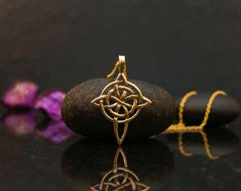 14k gold Celtic cross necklace, Celtic cross pendant, Celtic cross jewelry, Celtic necklace, gold Celtic jewelry, Celtic cross, Celtic knot