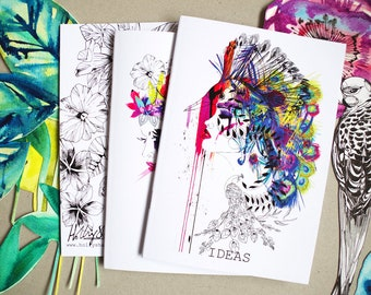 Choose ANY 2 A5 Notebooks - by Holly Sharpe